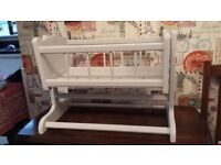 Doll's Solid Wood Rocking Cradle