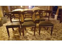 Set of 6 William IV Chairs and William IV Table