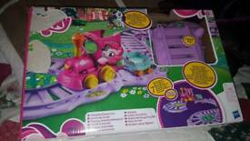 My little pony train track and train set