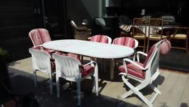 Garden furniture set by Allibert incl. matching cushions/parasol