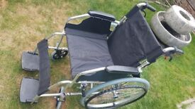 Lightweight alloy wheelchair bought on instruction of wrong consultant, immaculate condition.