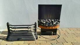 Electric fireplace and grate