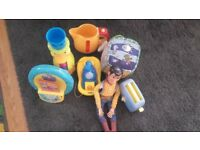 Peppa Pig, Woody, Toster, Bath toys, Toy for baby, bundle