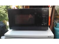Microwave oven in black