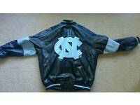 North carolina tar heels leather jacket