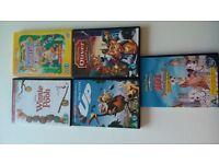 5 Walt Disney DVDs