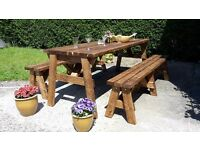 Extra strong rectory style banquet table/ bench
