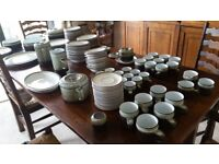 91 PIECE SET OF DENBY TABLE WARE 98 PER CENT NEVER USED, BARGAIN PRICE TO CLEAR