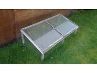 Cold Frame - Aluminium and Glass - opening top, sloping.