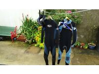 Wetsuit Wetsuits x 2 Adult mediums + Boots + Snorkel gear