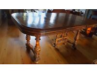 Vintage French Oak Dining Table