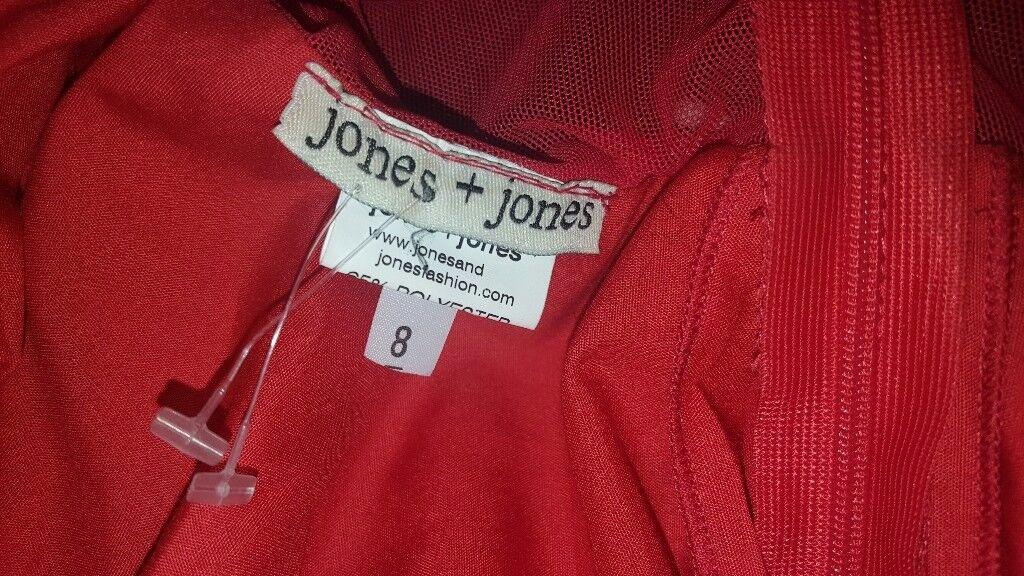 Jones & jones red dress