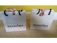 Pandora Gift bag with charm box and ribbon (USED)