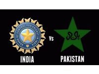 INDIA v PAKISTAN - ICC CHAMIONS TROPHY - GREAT SEATS - 6 TICKETS -SILVER