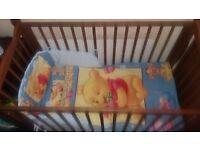 Disney Winnie &Tigger BLUE Bedding Set for Cot or Cotbed 4psc