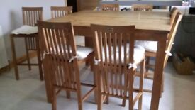 Great Condition Solid Teak Table with 8 Chairs
