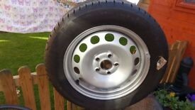 VW Caddy Touran BRAND NEW Steel Wheel with New Continental 205 55 R16 Tyre
