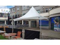 Olympic Tent / Gazebo By Gala Tents - 3 Sides 6 metres x 6 metres