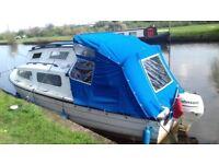22ft river canel boat