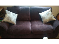 Argos couch - HOME Tessa Compact 3 Seater Fabric Sofa - Chocolate