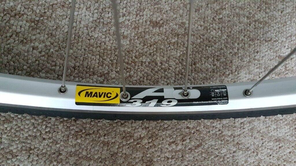 Shimano Tiagra 36H Hub + Mavic A319 Silver Wheelset + Continental TourRide Tyres