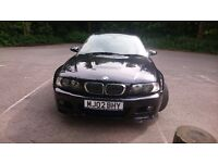 Bmw m3 e46 2002/02 manual 93k may p.ex-add cash for rs4 avant,c63,x5 e70 etc