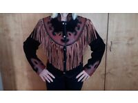 Beautiful Suede,Leather, Studded fringed jacket by MDK
