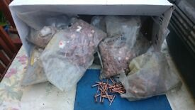 6 bags of copper slate nails