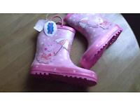 girls New Peppa Pig welly boots size 12