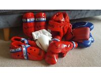 Blitz Taekwondo Junior Sparring Set & Boxing Gloves with Sparring Pads (Used but in good condition)