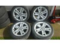 17inch 5x112 genuine audi a3 a4 alloys rims wheels fit vw passat sharan caddy van golf mk5 etc
