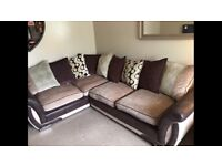 Right hand corner sofa, arm chair and footstool for sale immaculate condition.