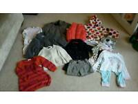 Girls winter clothes bundle 1-2 years