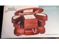 MELE WOODEN JEWELLERY BOX - SEALED AND BOXED