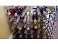 Great looking wood and metal wine rack for 42 bottles