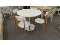 Julian Bowen Blanco Dining Table & 4 Tiffany Chairs Can Deliver