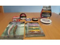 Lures & line for sale