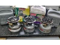 Coleman Dual Fuel stoves, Petrol stoves camping stoves. Spares or repairs