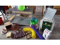 Degu/rat/chinchilla cage and accessories