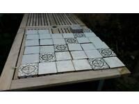 Tiles 25 plain 13 patterned