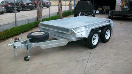 10 x 5 Box Galvanised Tandem Trailer with Ramps 1990kg cap