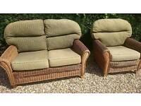Wicker Chair & Sofa set Conservatory / Summerhouse