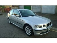 2004 BMW 318 TI COMPACT SE LOOK SILVER FULL LEATHER