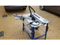 Scheppach HS 120 315mm Table Saw with sliding carriage, and table extension