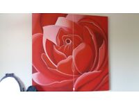 modern art red rose picture
