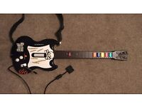 Playstation 2 Guitar Hero Controller + USB Adapter