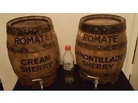 2x Romate Sherry kegs