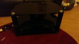 For Sale Black Glass TV Unit