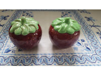2 Lovely Strawberry Jars 585 Sylvac