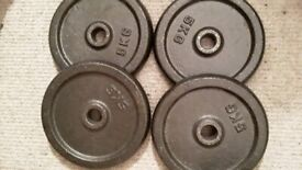 4 x 5kg Weight Plates